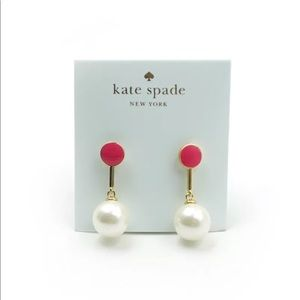 Kate spade pearls of wisdom stud drop earrings